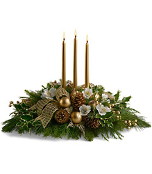 Royal Holiday Centerpiece from Maplehurst Florist, local flower shop in Essex Junction